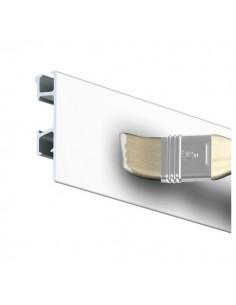 Binario ClickRail bianco verniciabile 3m.