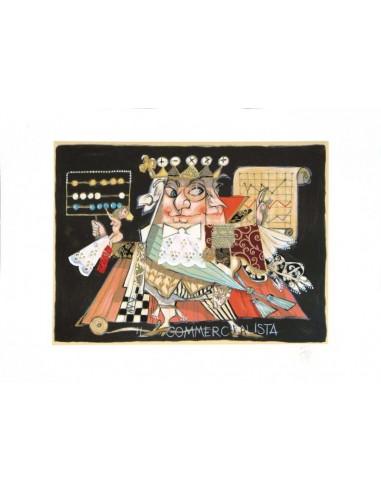 + Cornice 48fo02 Cassetta bianco-rosso-argento 60X50 Cm.
