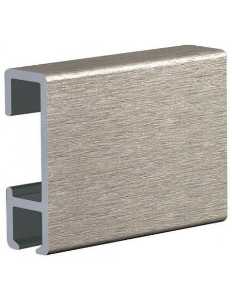 Binario ClickRail alluminio satinato 3m.