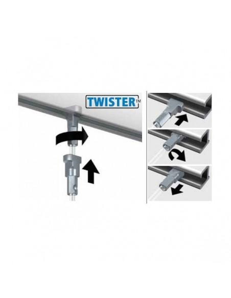Attacco twister + cavo Perlon 200Cm.
