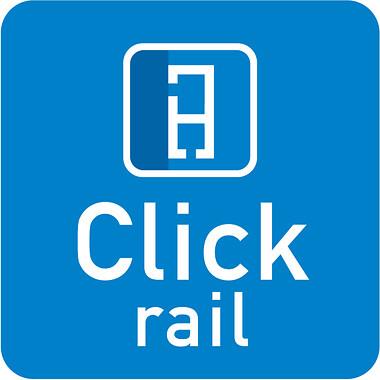Click Rail binario per appendere quadri